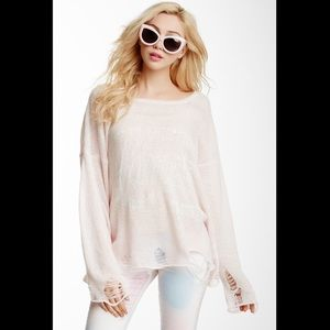 WILDFOX L'amour Lennon Sweater Size XS